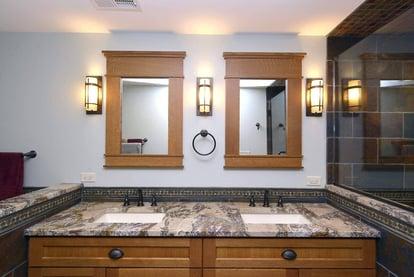 Double vanity sinks, undermount sink,