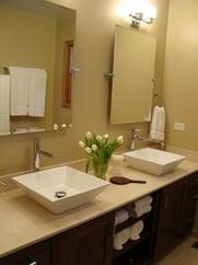 Vessel sink, bathroom remodel