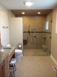 universal bathroom design aging in place seamless shower patrick a finn