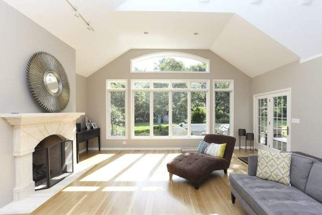 Long Grove Area Airy Living Room Remodel