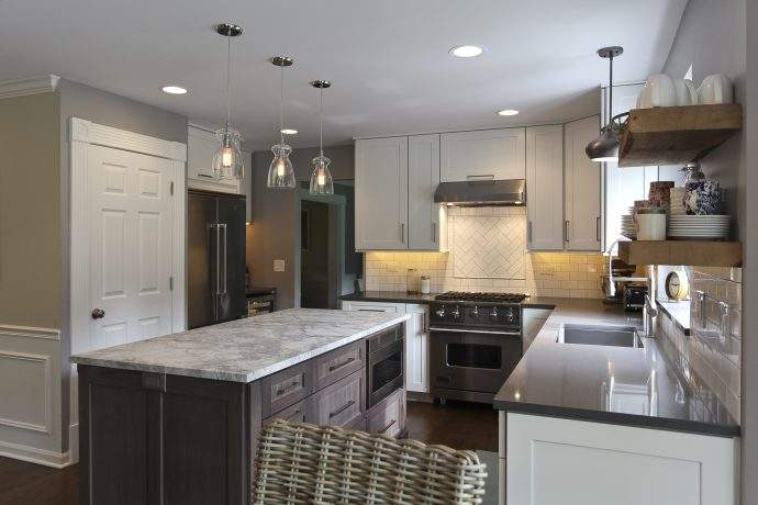 Prospect Heights Area Modern Farmhouse Kitchen Remodel