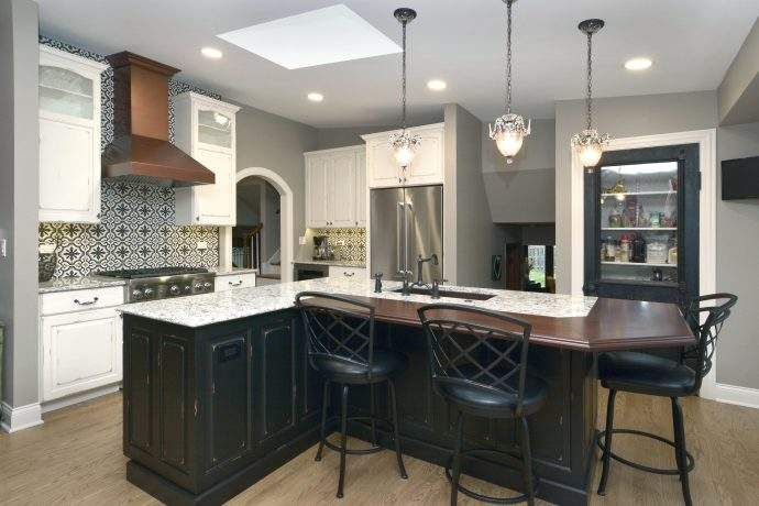 unique french country inspired kitchen in chicago suburbs