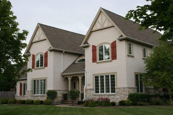 Stucco Tudor Custom Home