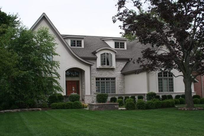 Custom Stucco and Brick Home