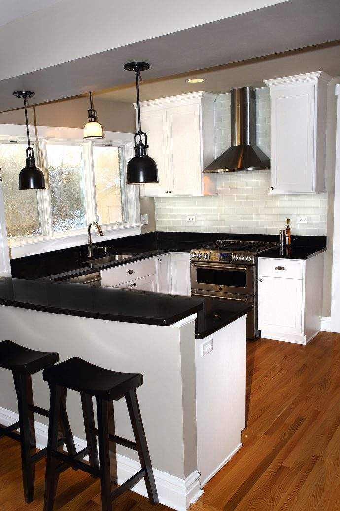 Arlington Heights Classic Black and White Kitchen