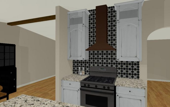 Design Rendering: Unique French Country Inspired Kitchen