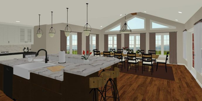 Design Rendering: Italian Inspired Kitchen and Addition